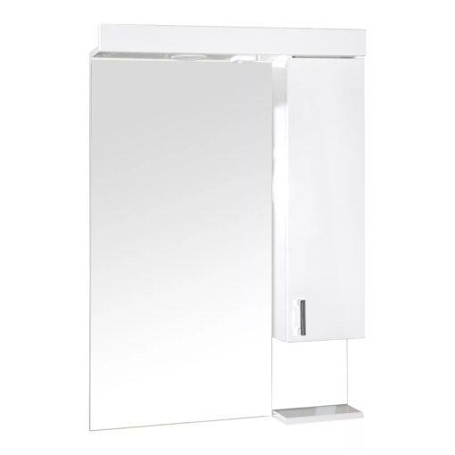 KARINA 75 cm széles jobbos fali fürdőszobai tükrösszekrény integrált LED világítással, MDF polcokkal