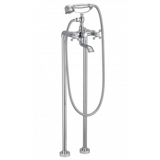 RETRO szabadonálló kádtöltő csaptelep kézi zuhanyszettel