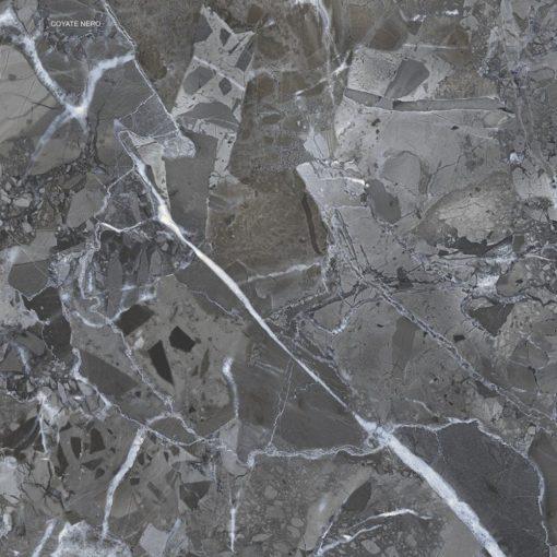Coyote Nero 60x60 tükörfényes rektifikált gres-porcelán padlóburkolat