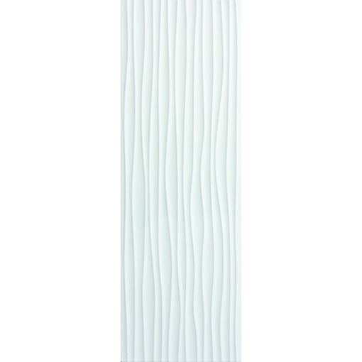 Glossy Wave White 30x90 fényes 3D porcelán falburkolat
