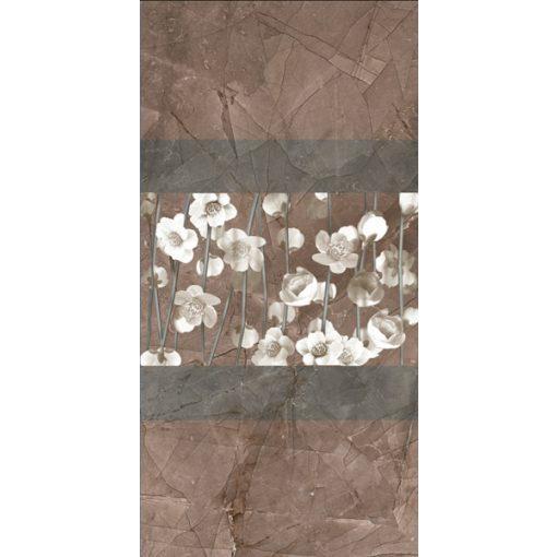 Pulpis Yasemin Brown Motif Dekor 30x60 fényes porcelán falburkolat