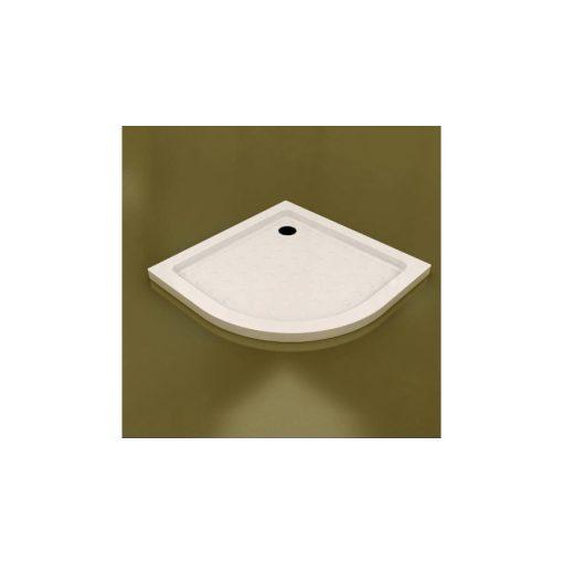 TONY 90x90 íves slim öntött márvány zuhanytálca leeresztőszeleppel és szifonnal, 4 cm magas