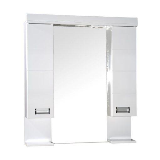 LEDA 85/100 cm széles dupla fali fürdőszobai tükrösszekrény integrált LED világítással, MDF polcokkal